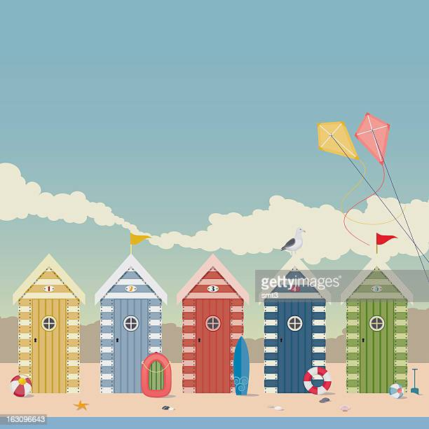 60 top beach hut stock illustrations clip art cartoons icons getty images - Dessin cabine de plage ...