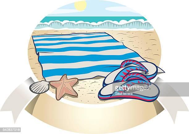 ilustraciones, imágenes clip art, dibujos animados e iconos de stock de artículos de playa - salina estado natural de terreno