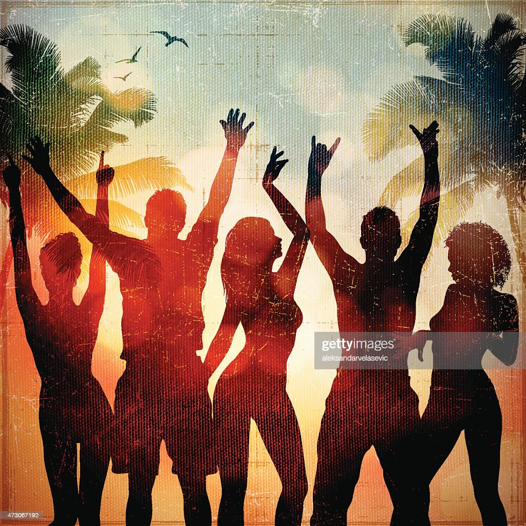 Beach-Party : Stock-Illustration