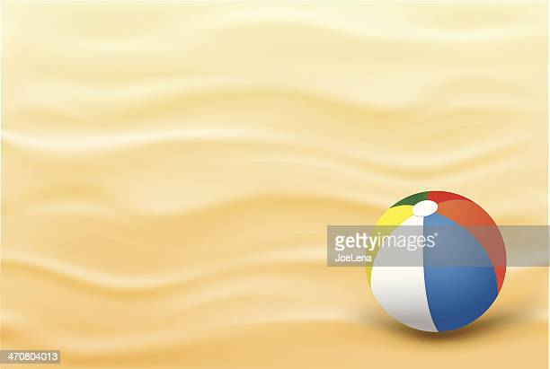 Beach Sand Background And A Ball