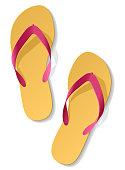 Beach sandals. Vector.