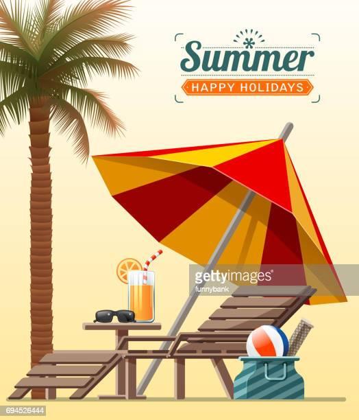 beach sign - beach holiday stock illustrations, clip art, cartoons, & icons