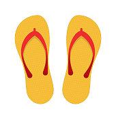 Beach slippers illustration.