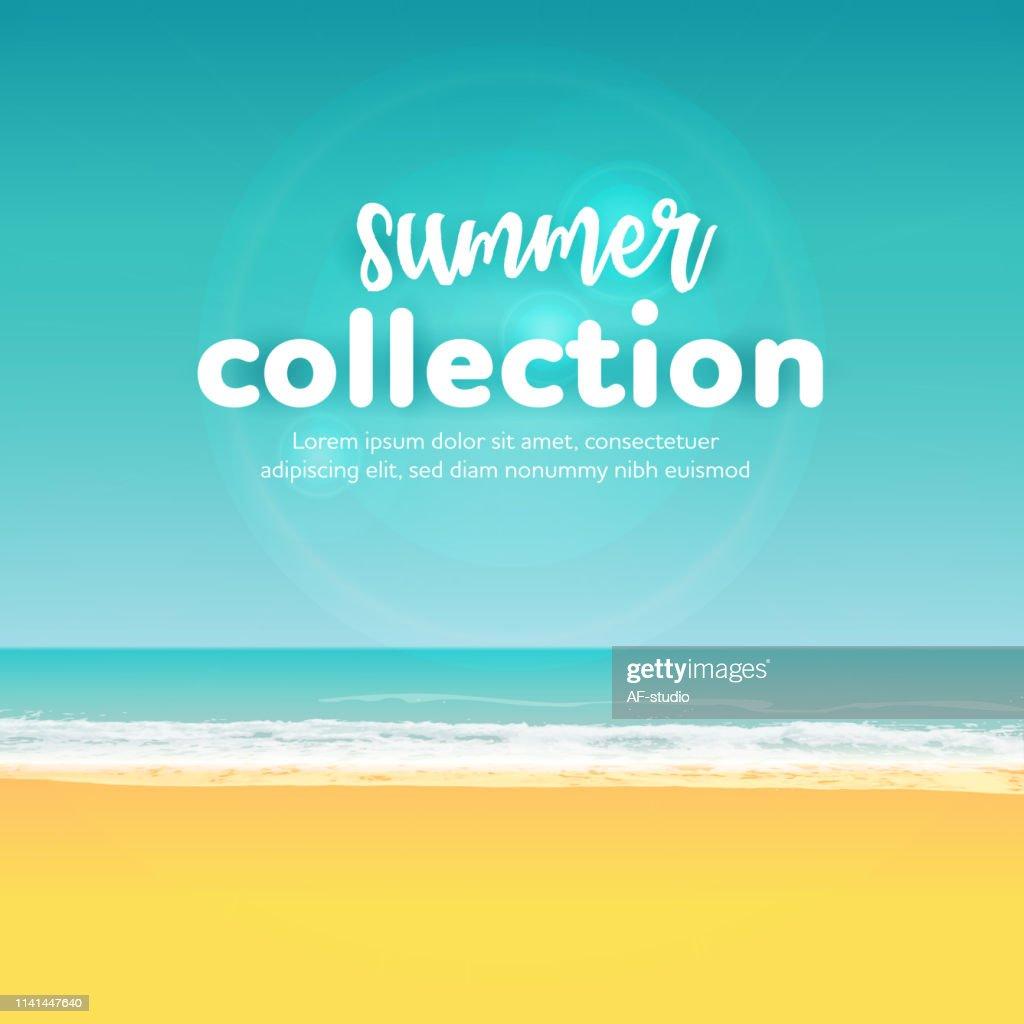 Beach Summer Background : stock vector