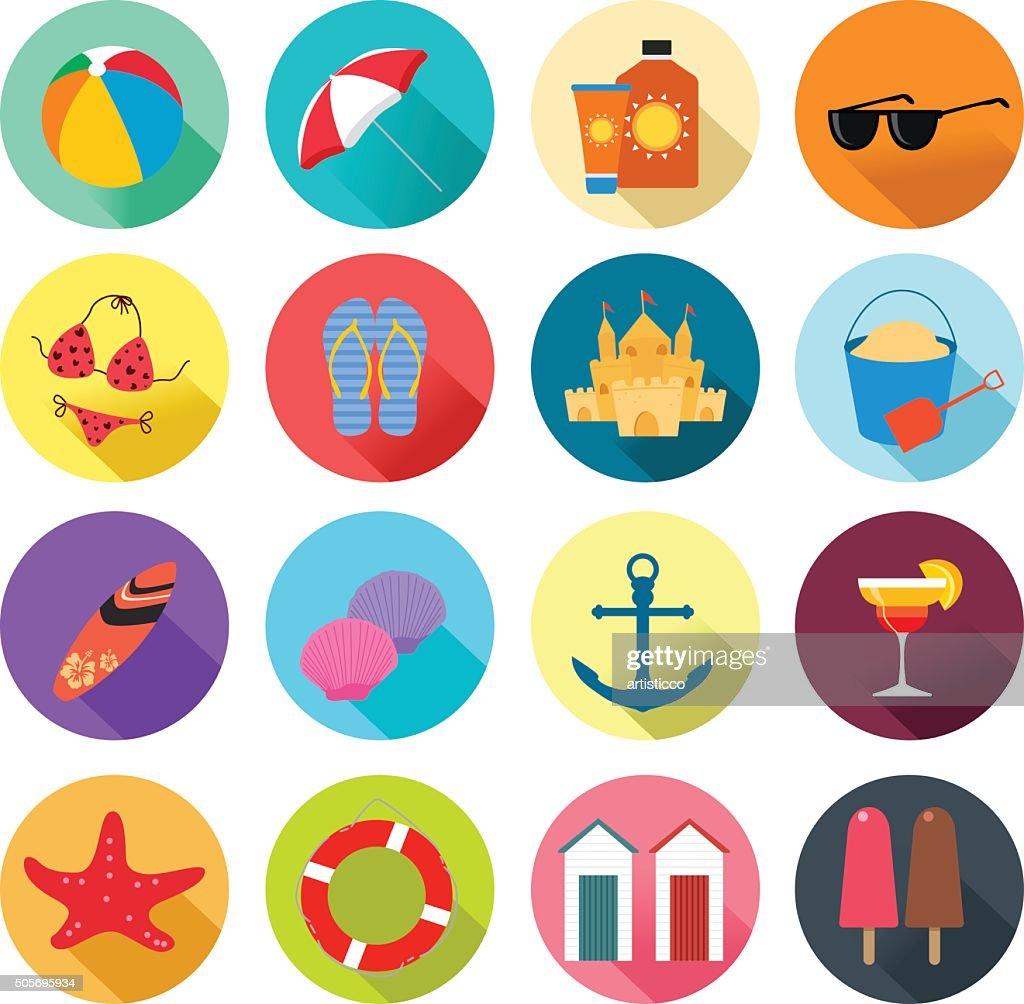 Beach Summer Icons