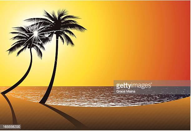 Beach Sun, Sand, and water. - VECTOR