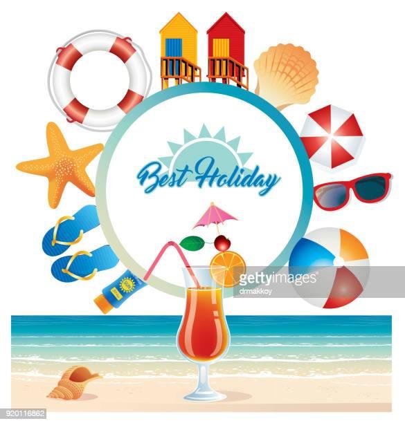 beach symbols - beach ball stock illustrations, clip art, cartoons, & icons