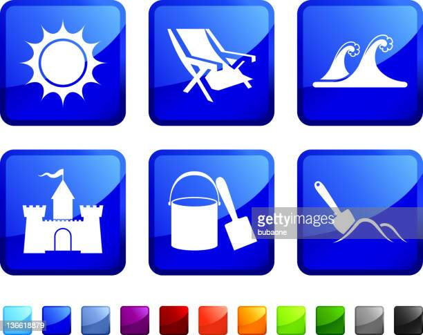 beach Zeit lizenzfreie vektor icon set Aufkleber