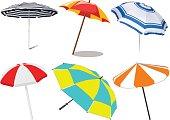 Beach umbrella - vector