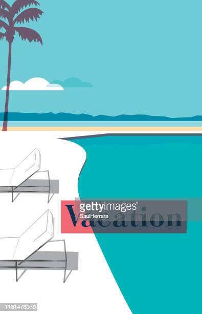 ilustrações, clipart, desenhos animados e ícones de praia - simplicidade