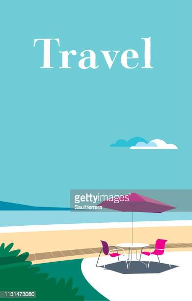 illustrations, cliparts, dessins animés et icônes de plage - paysage