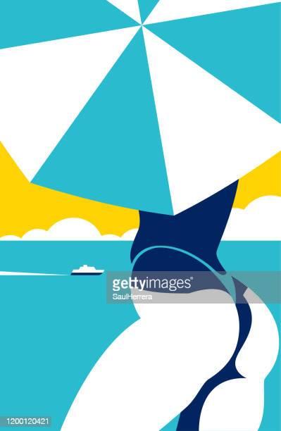 illustrations, cliparts, dessins animés et icônes de plage - pancarte de manifestation