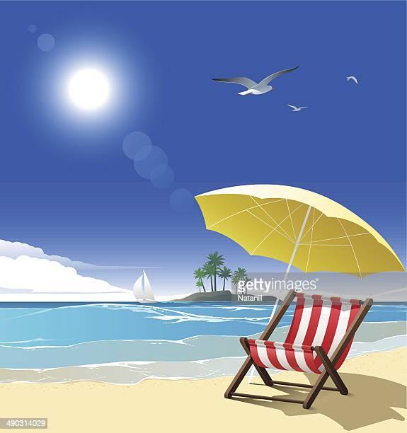 illustrations, cliparts, dessins animés et icônes de la plage - ensoleillé