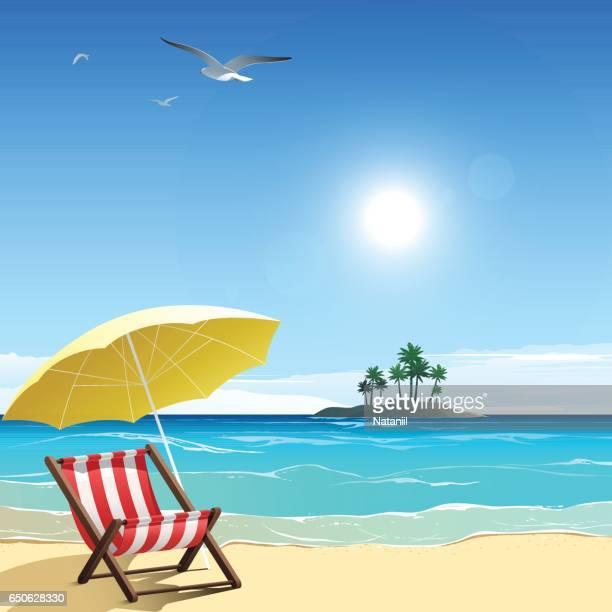 beach - beach holiday stock illustrations, clip art, cartoons, & icons
