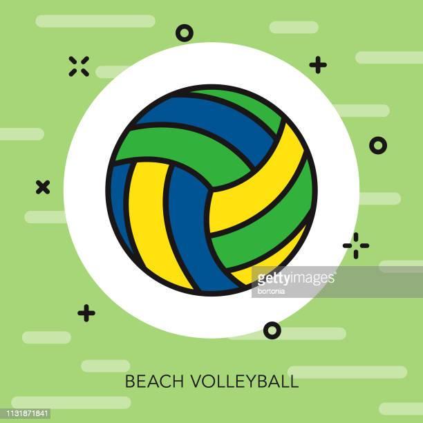 ilustraciones, imágenes clip art, dibujos animados e iconos de stock de voleibol playa brasil icono - vóleibol de playa