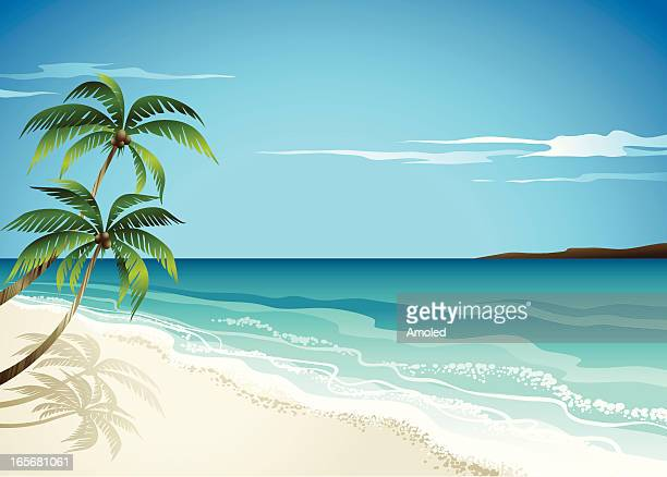 beachscene - beach stock illustrations