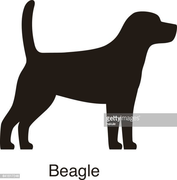 Simplified Black Dog Silhouette