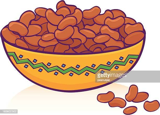 bean bowl - bean stock illustrations