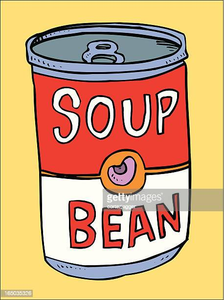 bean soup (vector illustration) - drink can stock illustrations, clip art, cartoons, & icons