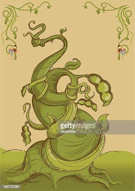 ilustrações, clipart, desenhos animados e ícones de beanstalk - feijão