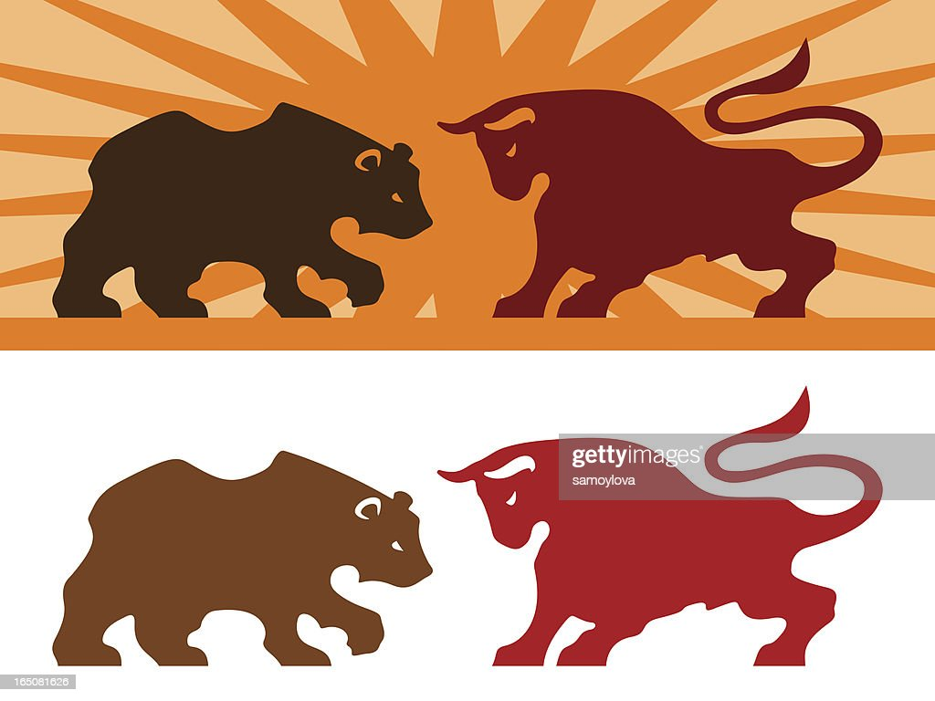 Bear and Bull : stock illustration