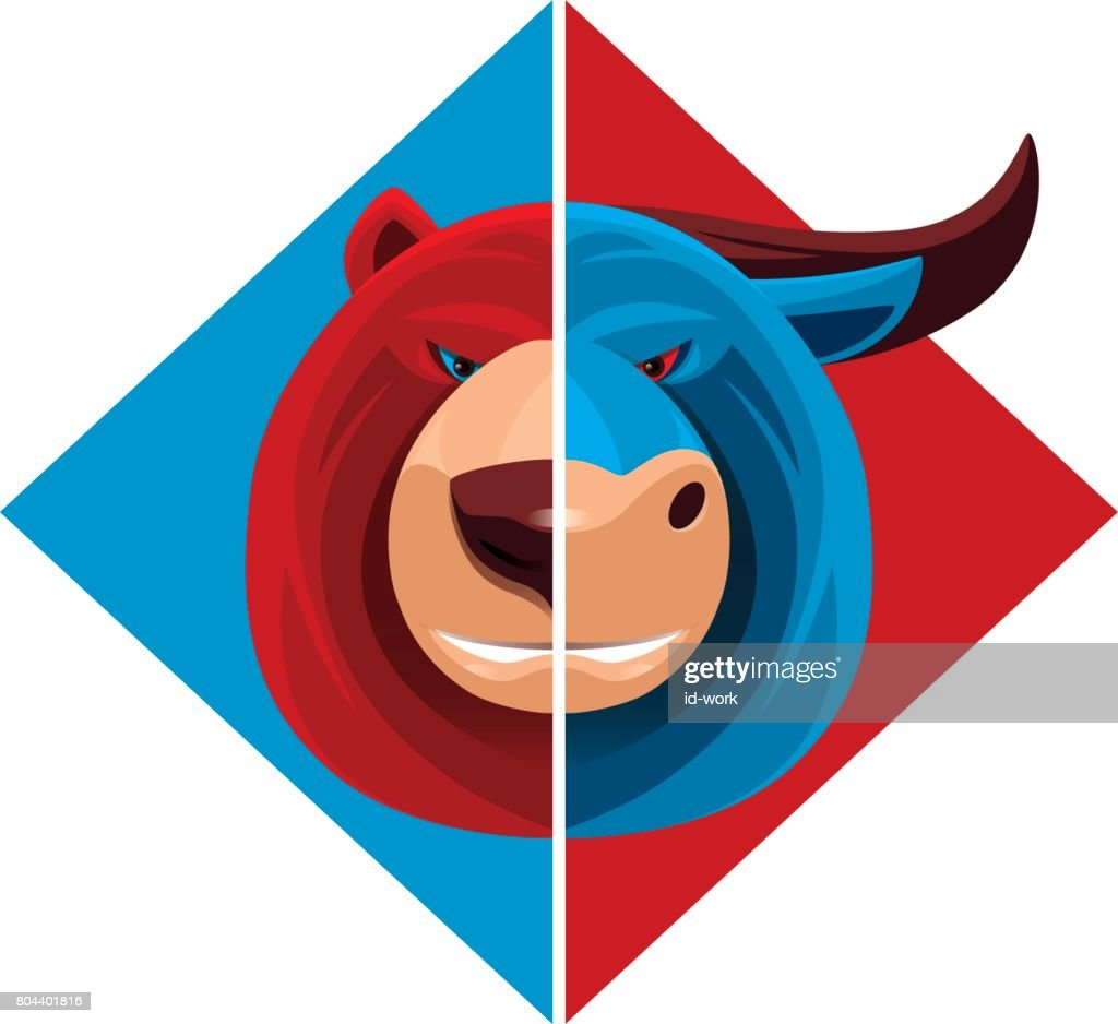 bear and bull : stock illustration