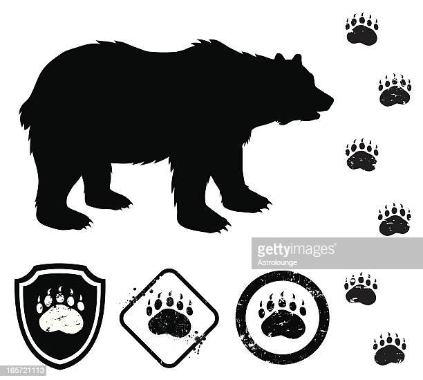 bear and signs - bear stock illustrations