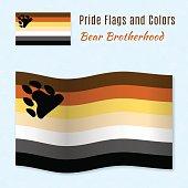 Bear Brotherhood pride flag with correct color scheme