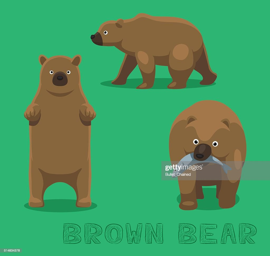 Bear Brown Bear Cartoon Vector Illustration