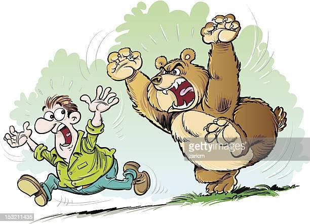 Bear chasing man