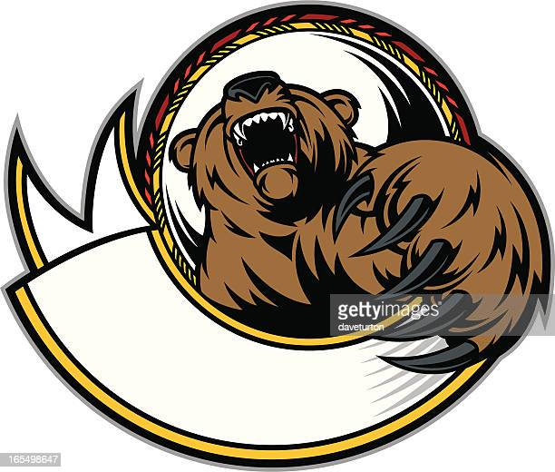bear claw & growl - claw stock illustrations, clip art, cartoons, & icons