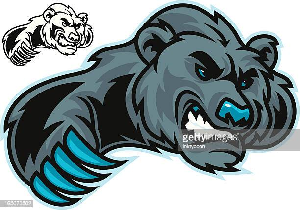 bear clawing - claw stock illustrations, clip art, cartoons, & icons
