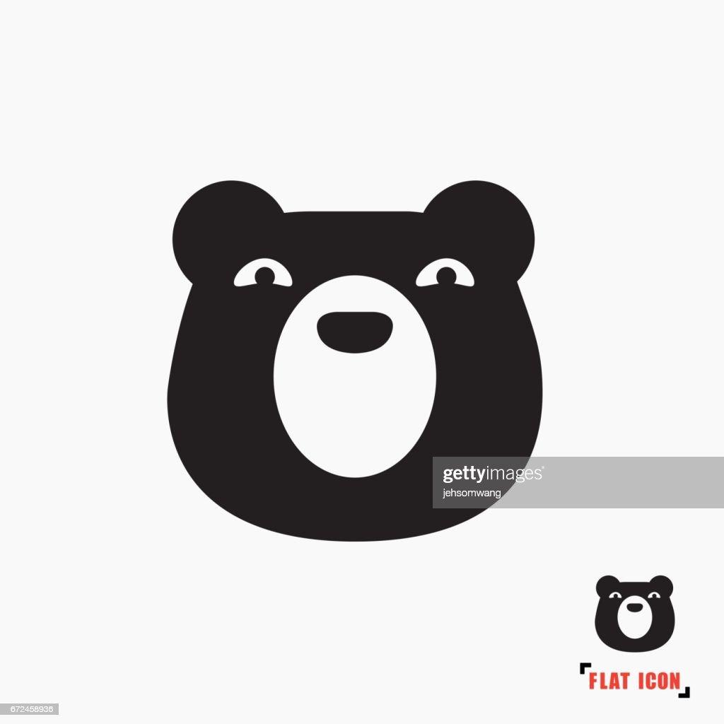 Bear flat icon