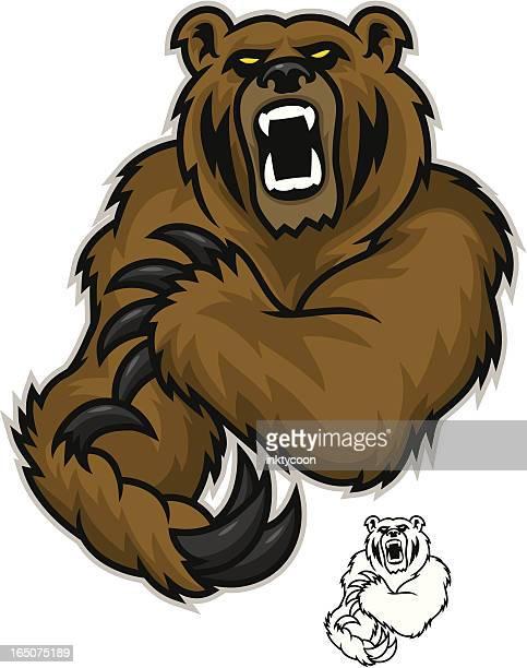 bear growl - agression stock illustrations, clip art, cartoons, & icons