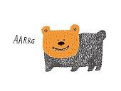 Bear growling sketch