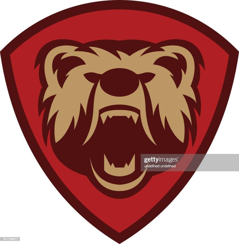 Bear head for logotype