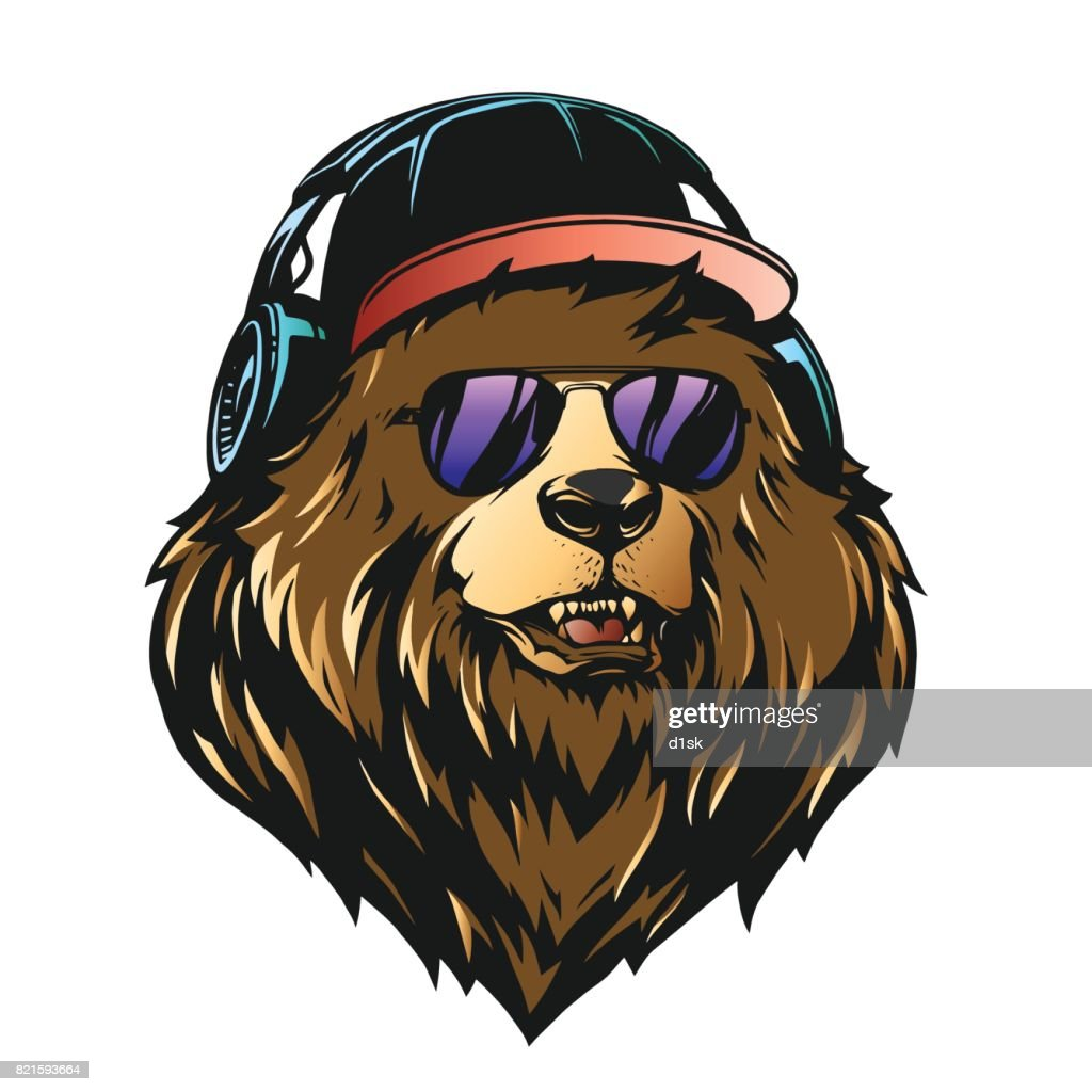 Bear head illustration