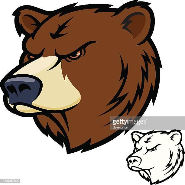 ilustraciones, imágenes clip art, dibujos animados e iconos de stock de oso de media - oso pardo