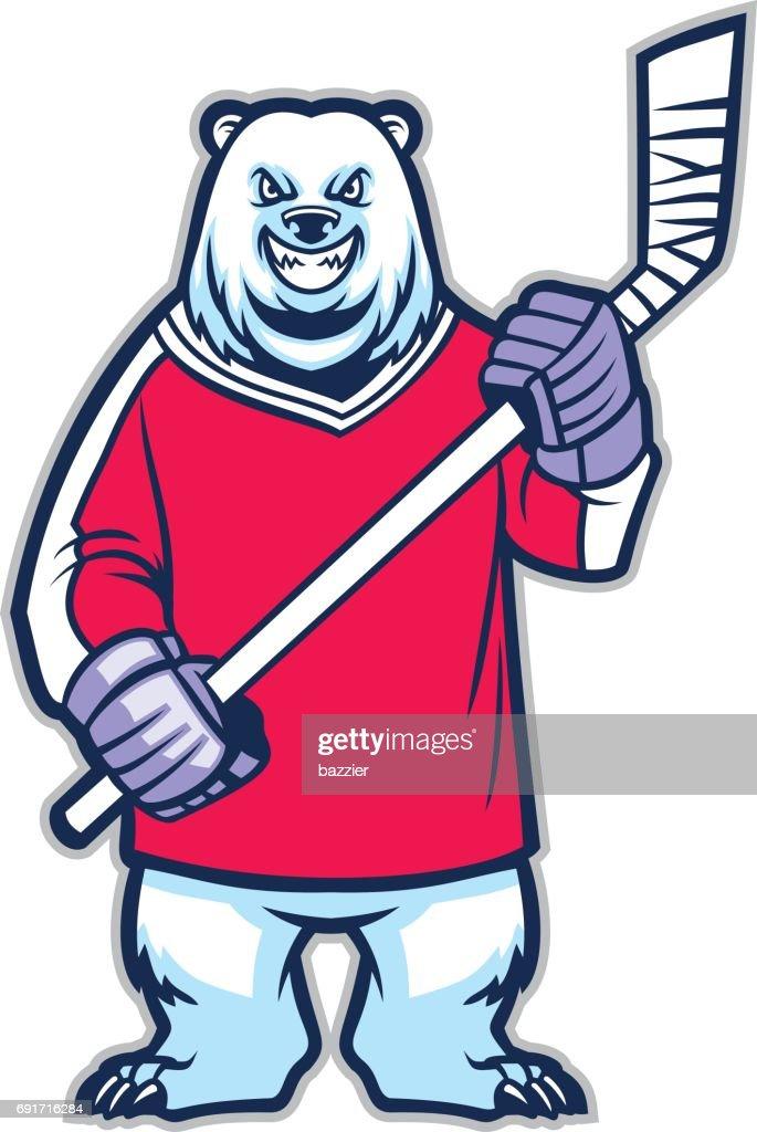 bear ice hockey mascot