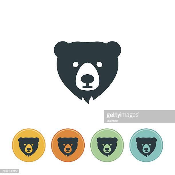 ilustraciones, imágenes clip art, dibujos animados e iconos de stock de icono de oso - oso pardo