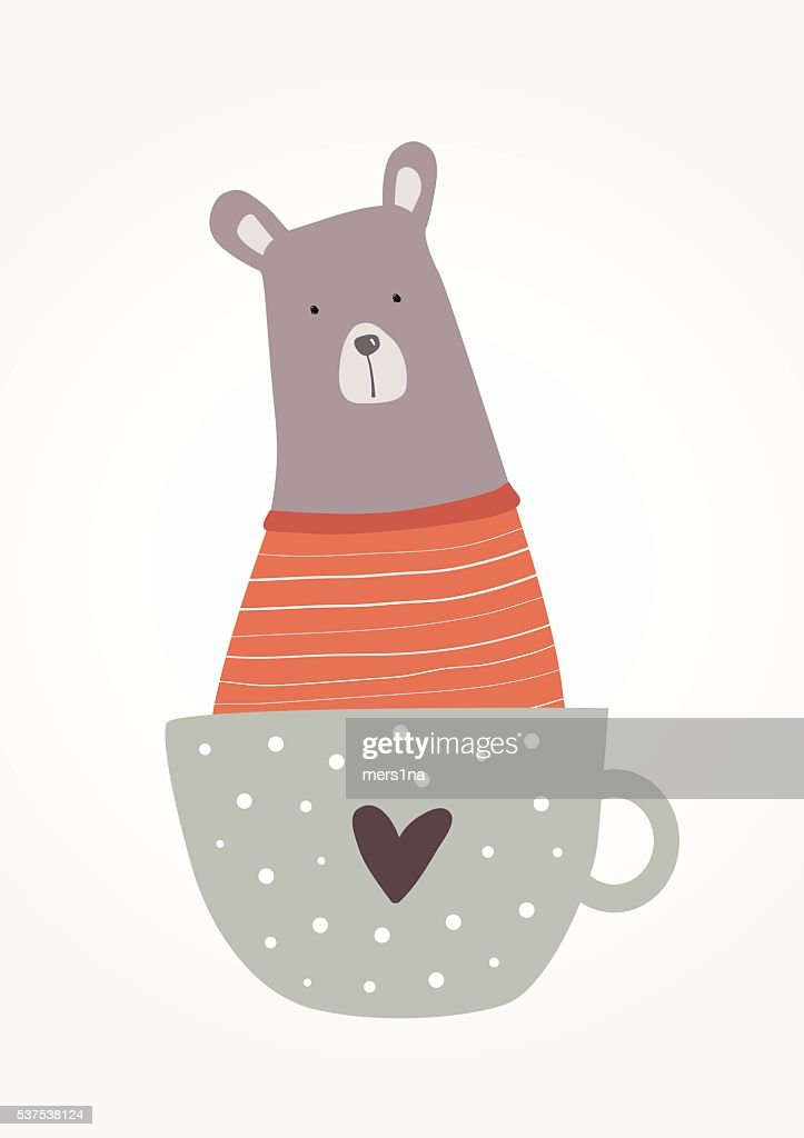Bear in a cup