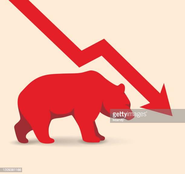 bear market - bear market stock illustrations