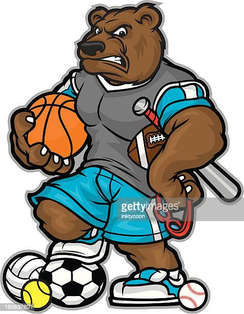 Bear Mascot Allsport