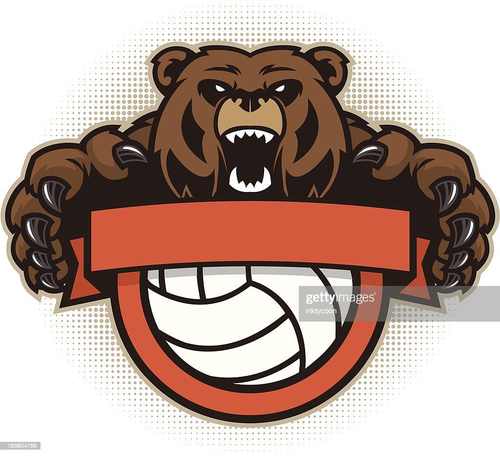 Bear Mascot Hockey