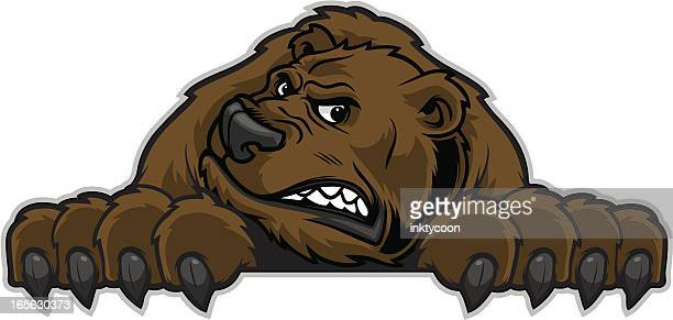 ilustraciones, imágenes clip art, dibujos animados e iconos de stock de bear mascot - oso pardo