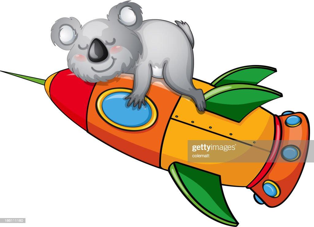 bear on a rocket