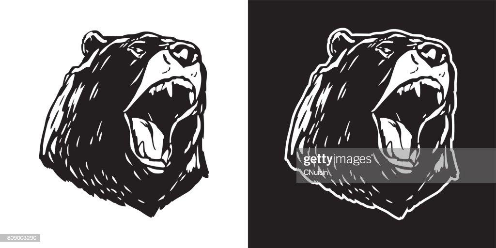 Bear Polar Bear scream vector illustration