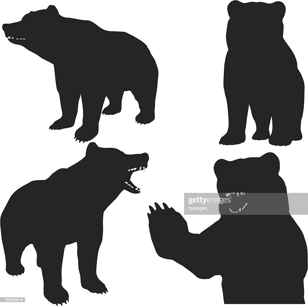 Bear Silhouette Collection (vector+jpg)