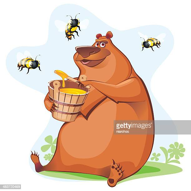bear tasting honey