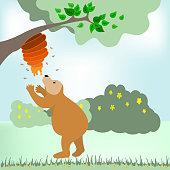 Bear tries to keep honeycomb